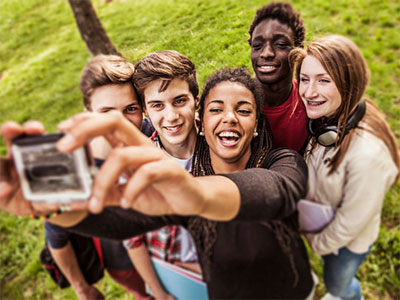 Students in a Group Selfie