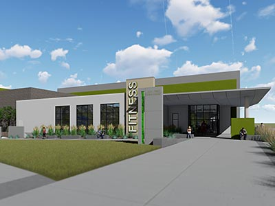 Future Fitness Center Rendering