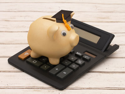 Piggy Bank with Calculator Image