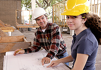 Construction Student and Teacher Image