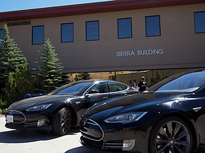 Tesla Car on TMCC Campus Image