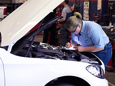 TMCC Automotive Student at Work Image
