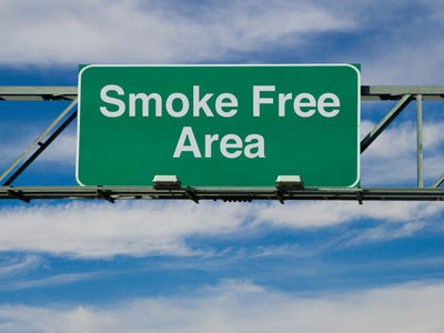 Smoke Free Area sign