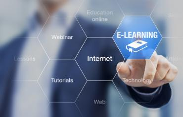 Stock photo of elearning graphic