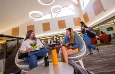 Students at the Learning Commons