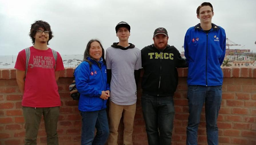Group of TMCC students in Peru.