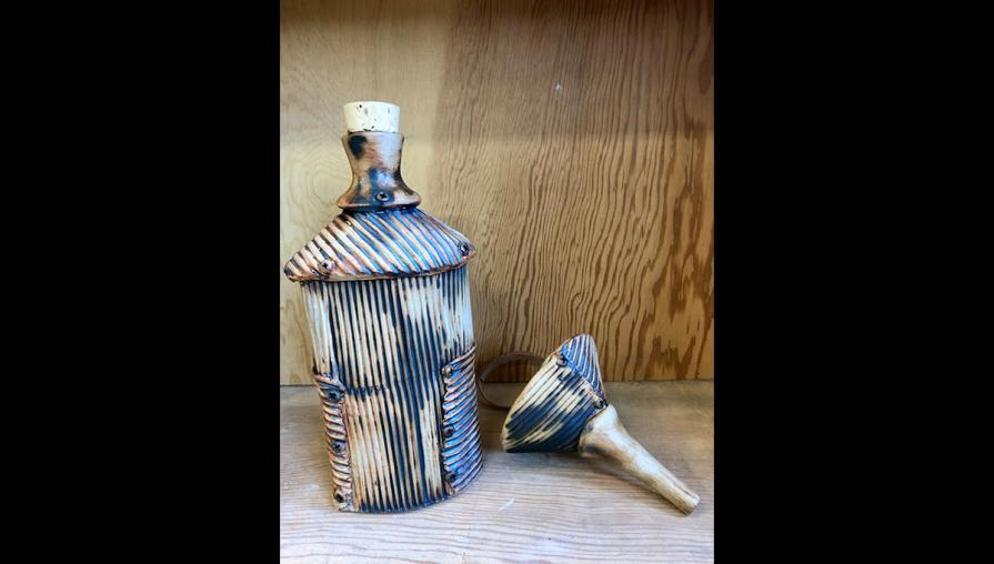 Corrugated flask and funnel by Wedge owner Sutter Stremmel.