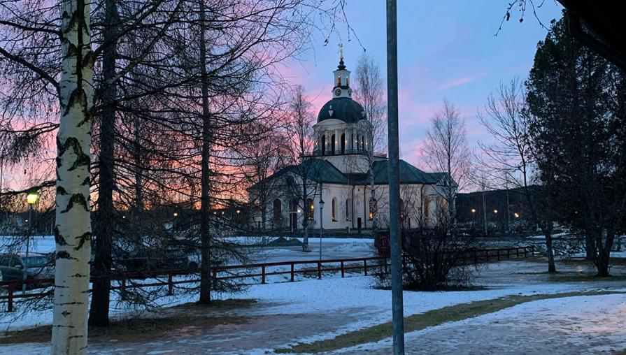 A church in the town of Skellefteå, Sweden.