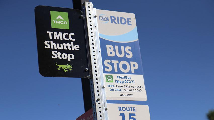 TMCC shuttle sign