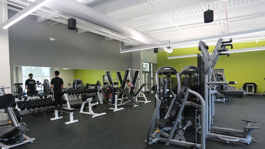 Exercise machines in the TMCC Fitness Center.