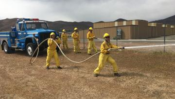 Students in the WildLand Fire Academy hone their skills as fire professionals
