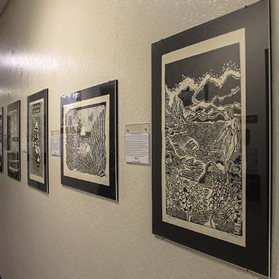 Images of several pieces from TMCC's Permanent Art Collection