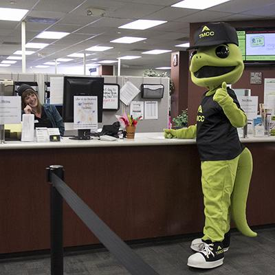 Photo of Wizard in the Financial Aid Office.
