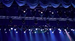 Stage lights in a theater.