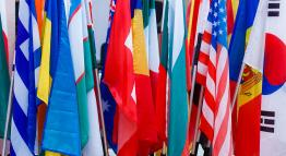 Flags from different countries.